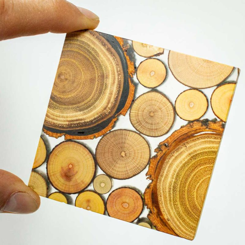 Glasuntersetzer Heckenholz